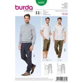 Patron Pantalon Burda n°6603