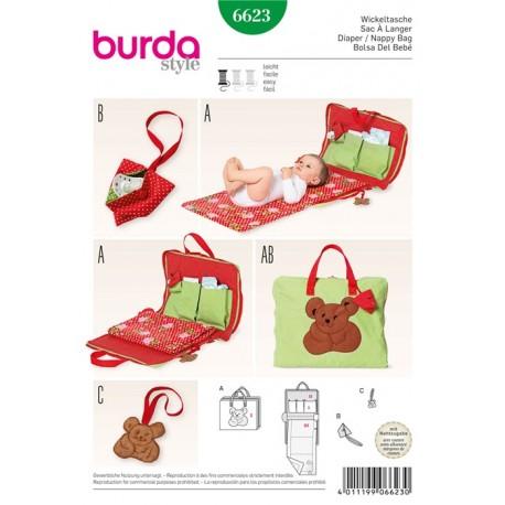 Diaper/ Nappy Bag Burda Sewing Pattern N°6623