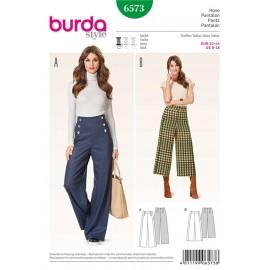Patron Femme Pantalon Burda n°6573