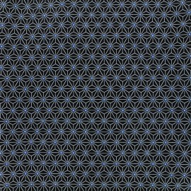 Cretonne cotton Fabric Saki - indigo/white x 10 cm