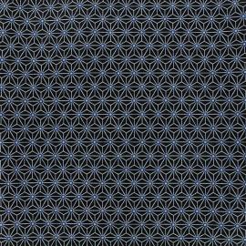 Tissu coton crétonne Saki - indigo/gris x 10cm