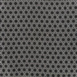 Tissu coton crétonne Saki - gris/indigo x 10cm