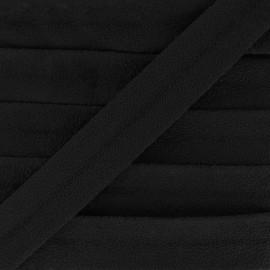 BIais suédine 18 mm - noir x 1m
