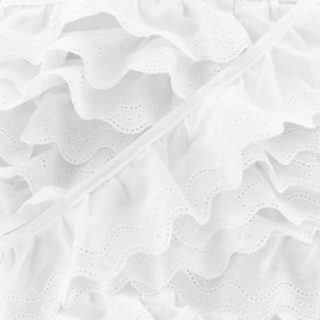 Broderie anglaise Lily - blanc x 1m