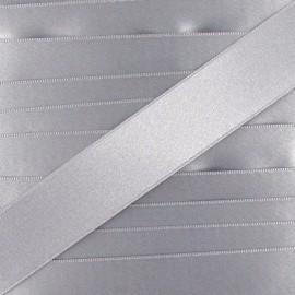 Satin ribbon - pearl grey x 1m
