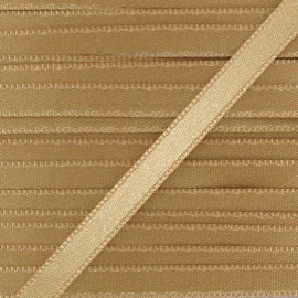 Satin ribbon 6mm - old gold x 1m