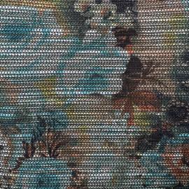 Tissu jacquard tissé lurex Garden x 10cm