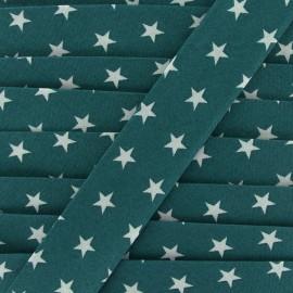 Biais coton Stars 30 mm - canard x 1m