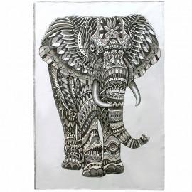 Tenture tissée Eléphant - gris