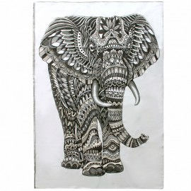 Woven tapestry Elephant - grey