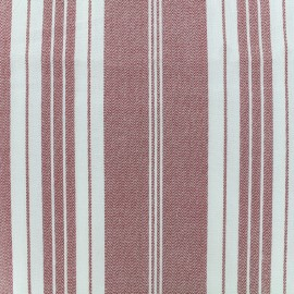 Cretonne cotton Fabric Toile à matelas - red x 10cm