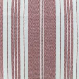 Tissu coton crétonne Toile à matelas - rouge x 10cm