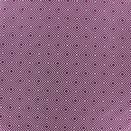 Tissu enduit coton Poppy Square - blanc/violet x 10cm