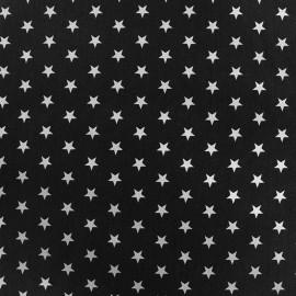 Tissu enduit coton Poppy Etoile - blanc/noir x 10cm