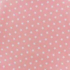 Tissu enduit coton Poppy Etoile - blanc/rose clair x 10cm