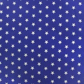 Tissu enduit coton Poppy Etoile - blanc/bleu navy x 10cm