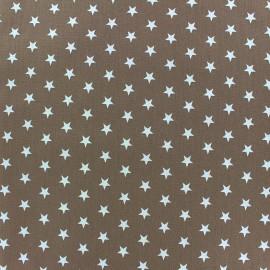 Tissu enduit coton Poppy Etoile - blanc/beige foncé x 10cm