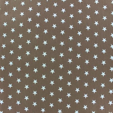 Coated cotton fabric Poppy Triangle - white/dark beige x 10cm