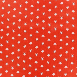 Coated cotton fabric Poppy Triangle - white/orange x 10cm