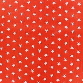 Tissu enduit coton Poppy Etoile - blanc/orange x 10cm