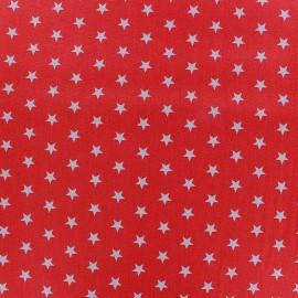 Tissu enduit coton Poppy Etoile - blanc/rouge x 10cm