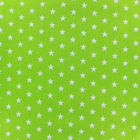 Coated cotton fabric Poppy Triangle - white/light green x 10cm