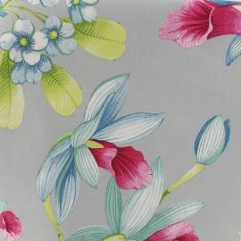 Tissu percale Elegance - gris/rose x 39cm