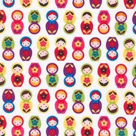 Tissu coton Suzy's Minis Matriochka - bright  x12cm