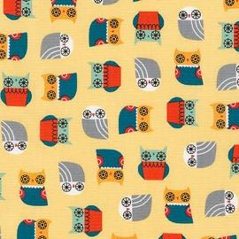 Tissu coton Suzy's Minis Birds - yellow x 10cm