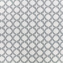 Double Gauze Fabric  Little Prints  Zellige - grey x 10 cm