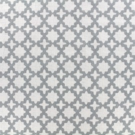 Tissu double gaze de coton Little Prints  Zellige - grey x 10 cm