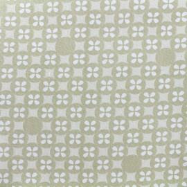 ♥ Coupon 110 cm X 110 cm ♥ Tissu double gaze de coton Little Prints  Mosaic - natural