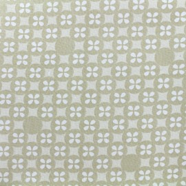 Tissu double gaze de coton Little Prints  Mosaic - natural x 12 cm