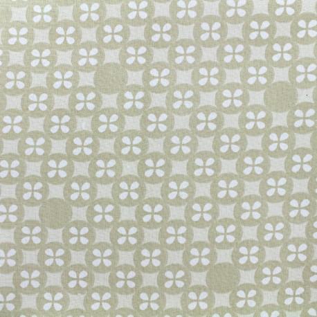 Tissu double gaze de coton Little Prints  Mosaic - natural x 12 cm