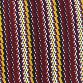 Tissu crêpe Marta remix - bordeaux x 10cm