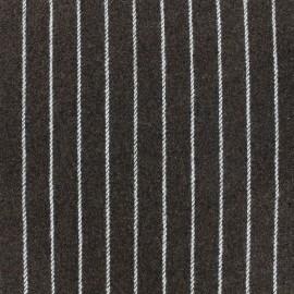 ♥ Coupon 145 cm X 145 cm ♥ Wool fabric Buxton - brown