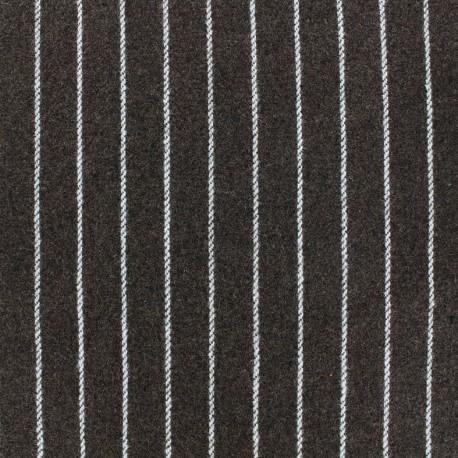 Tissu Lainage Buxton - marron x 10cm