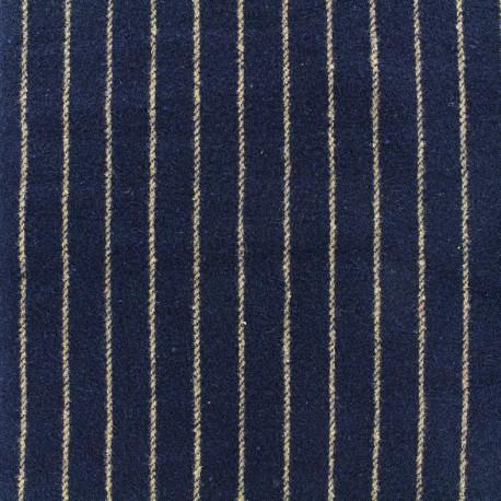 Wool fabric Buxton - navy