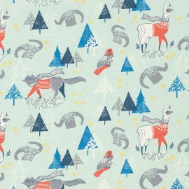 Fabric Dear Stella  Winterscape- multi x 24cm
