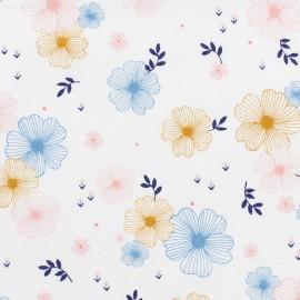 Tissu coton Dashwood Millefleur Japanese - white x 15cm