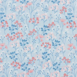 Tissu coton Dashwood Millefleur Meadow - Blue x 10cm
