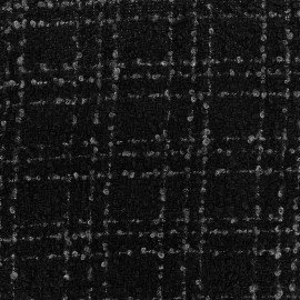 Wool fabric Orion - black x 10cm
