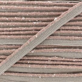 Flecked Woolen Piping - beige  x 1m