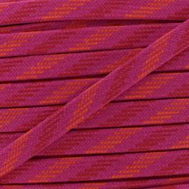Bao Flat Braid Cord - purple/red x 1m
