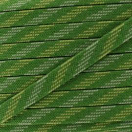 Bao Flat Braid Cord - green/light green x 1m