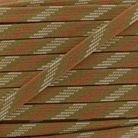 Bao Flat Braid Cord - brown/beige x 1m