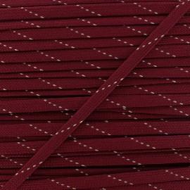 Cordon plat Eder - rouge x 1m