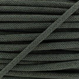 Cordon lainage tressé Lurex - vert x 1m