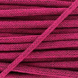 Lurex Woolen braided Cord  - pink x 1m