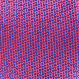 ♥ Coupon de tissu 42 cm X 42 cm ♥ Tissu satin impression gomme Stars (laize : 42 cm) - bleu/grenadine